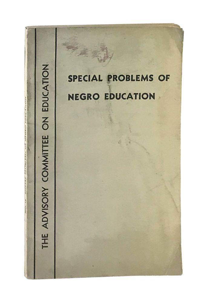 Special Problems of Negro Education. Doxey A. Wilkerson.