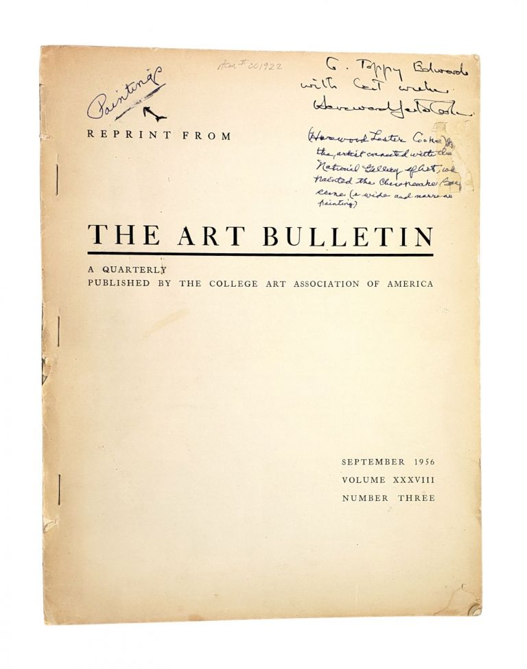 The Documents Relating to the Fountain of Trevi [Contemporary Offprint from The Art Bulletin: September 1956, Volume 38, Number 3]. Hereward Lester Cooke Jr.