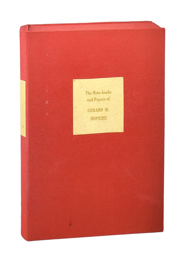 The Note-Books and Papers of Gerard Manley Hopkins. Gerard Manley Hopkins, Humphrey House, ed.