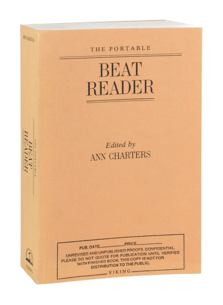 The Portable Beat Reader [Uncorrected Proofs]. Ann Charters, ed.