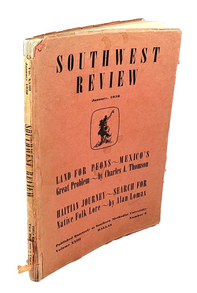 Southwest Review: January, 1938
