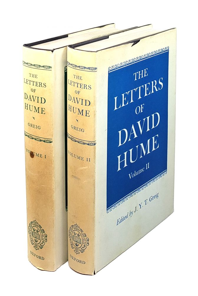 The Letters of David Hume [2 volumes]. David Hume, J Y. T. Greig, ed.