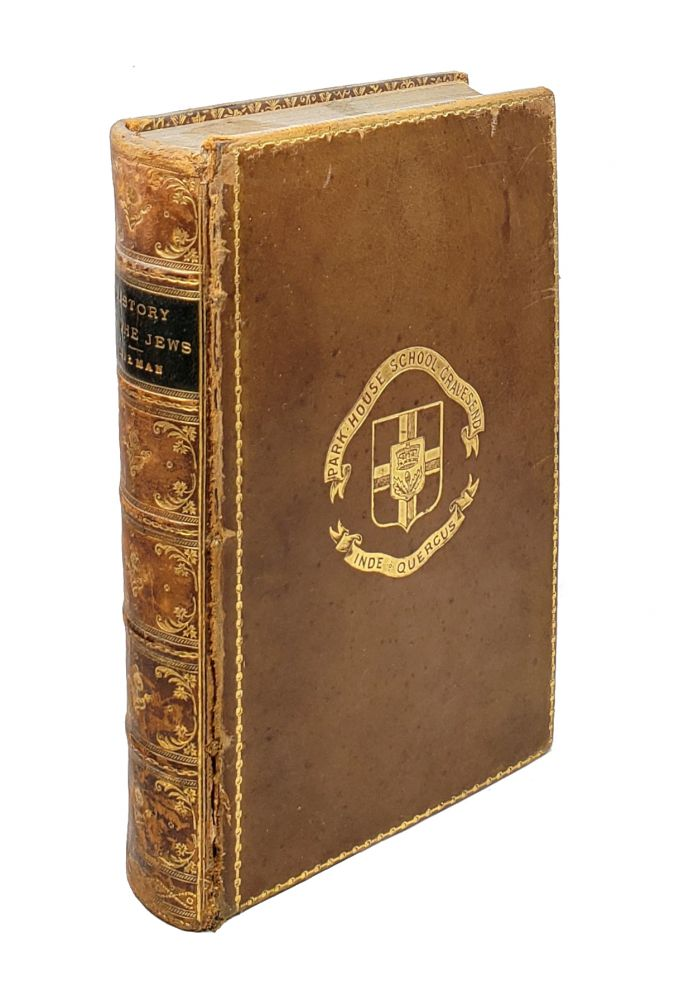 History of the Jews. H H. Milman, Relfe Brothers, binding.