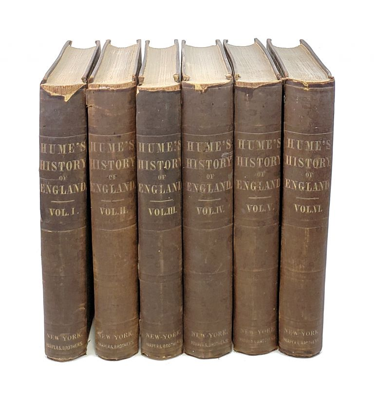 The History of England from the Invasion of Julius Caesar to the Abdication of James the Second 1688, by David Hume, Esq., A New Edition with the Author's Last Corrections and Improvements to which is Prefixed a Short Account of His Life Written by Himself (Six Volumes). David Hume.
