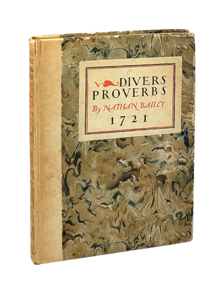 Divers Proverbs with their Explication and Illustration [William Safire Copy]. Nathan Bailey, Allen Lewis.