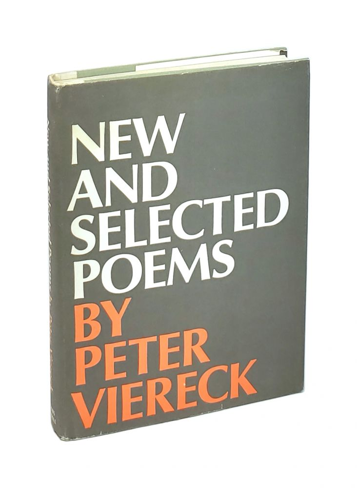 New and Selected Poems [Signed to William Safire]. Peter Viereck.
