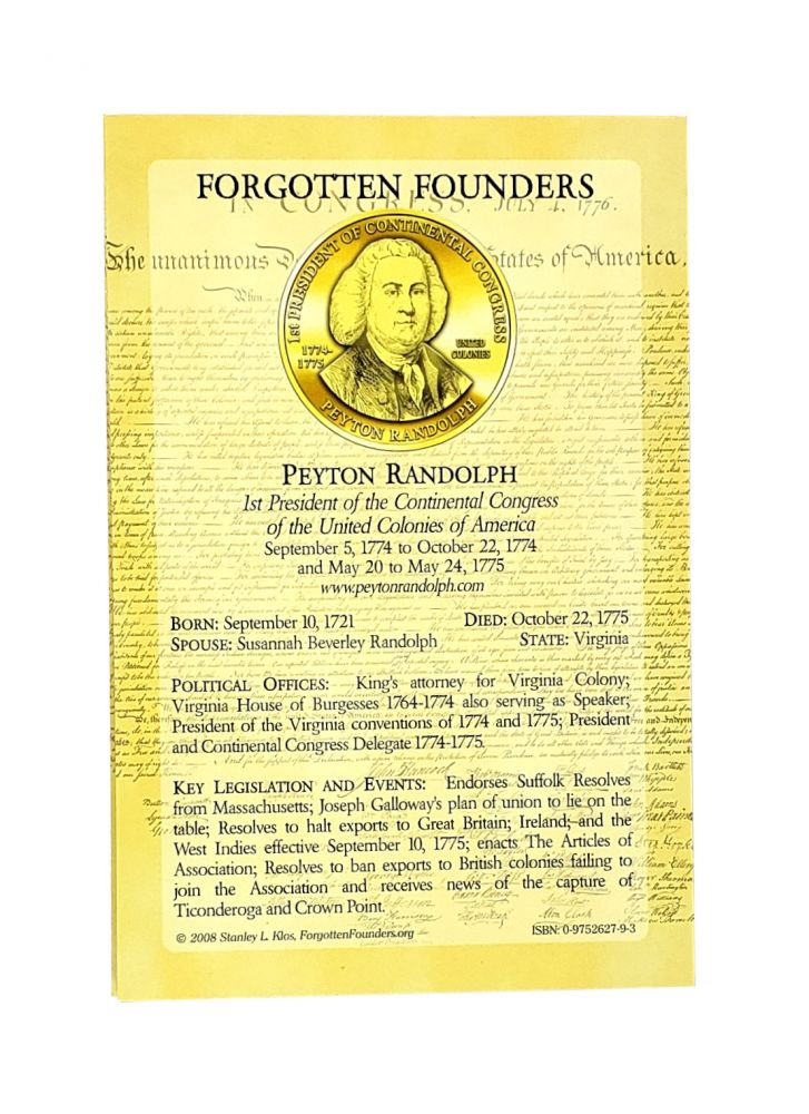 Forgotten Founders and Capitols. Stanley L. Klos.