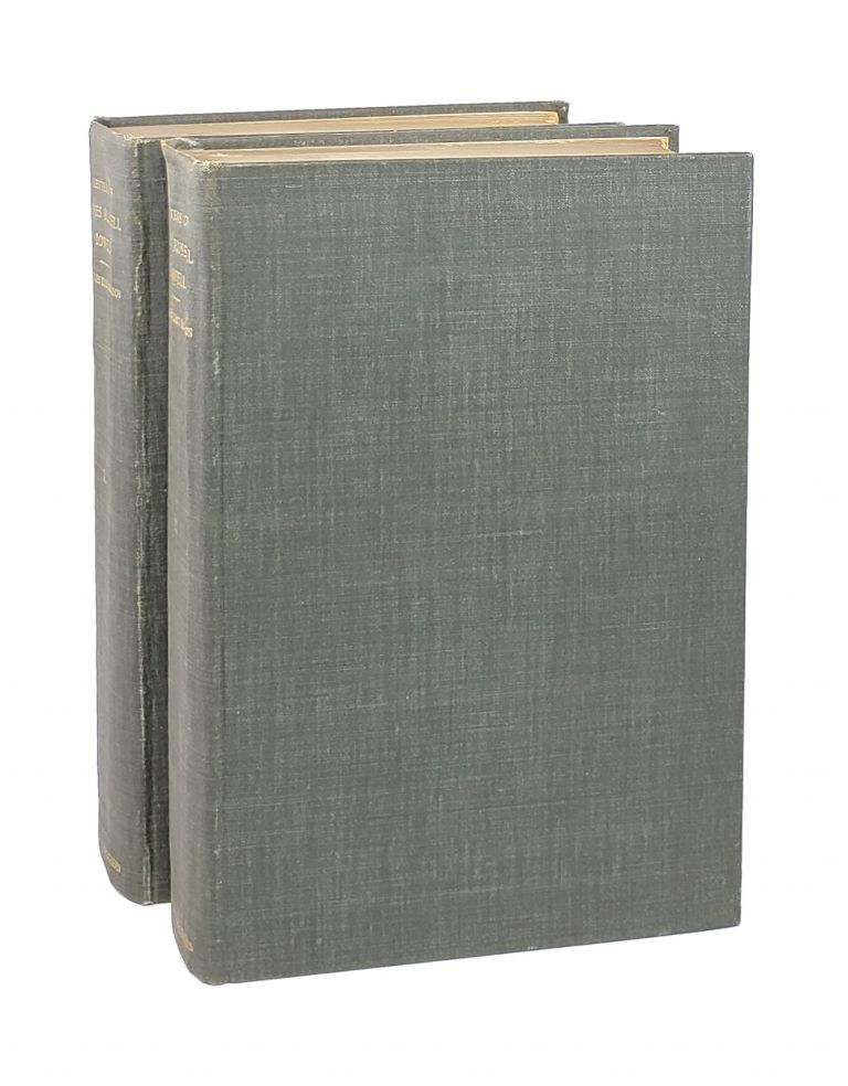 Letters of James Russell Lowell [Two Volumes, with Charles Eliot Norton signature]. James Russell Lowell, Charles Eliot Norton, ed.