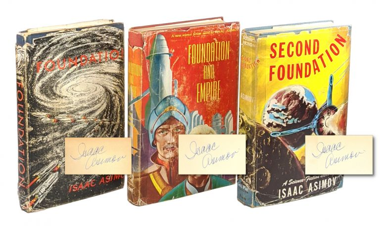 Foundation Trilogy [Signed Mixed State First Editions] being Foundation, Foundation and Empire, Second Foundation. Isaac Asimov.