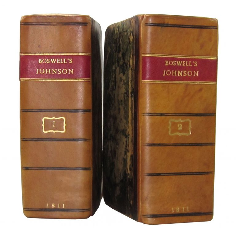 The Life of Samuel Johnson, LL.D., Comprehending an Account of His Studies, and Numerous Works in Chronological Order [etc.] (Five Volumes Bound as Two). James Boswell.