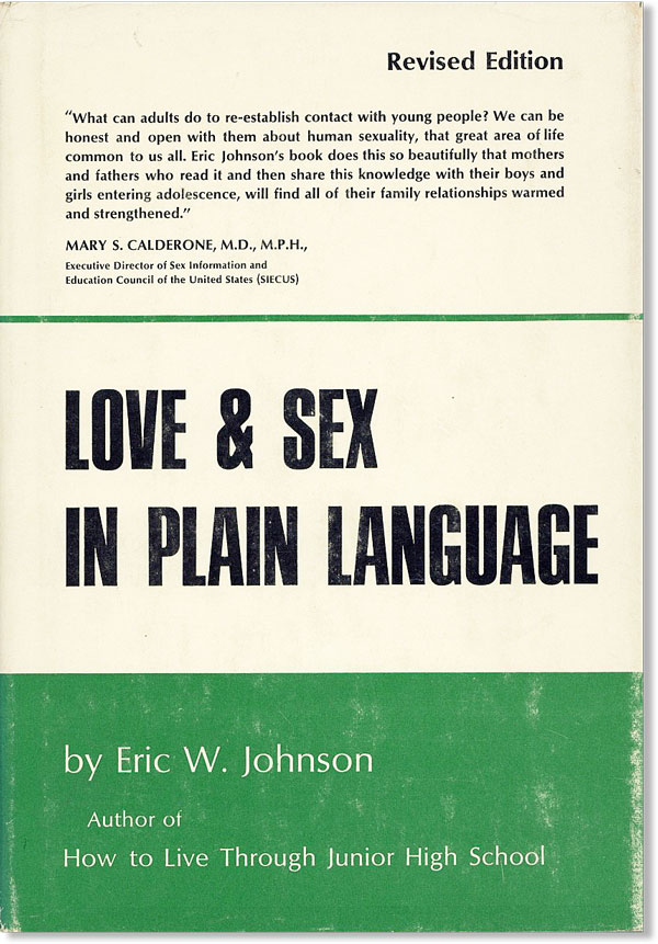 Love and Sex in Plain Language. Eric W. Johnson, Edward C. Smith, Joseph Stokes Jr, foreword.