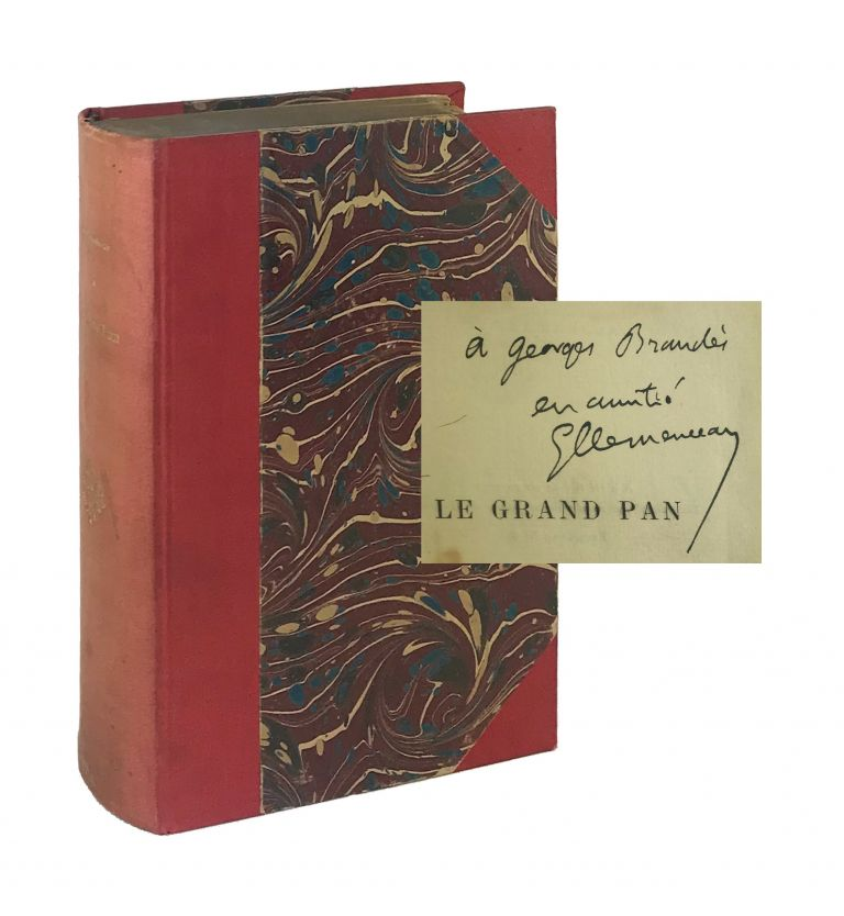La Grand Pan [Limited Edition, Inscribed and Signed to Georg Brandes]. eorges, Clemenceau.