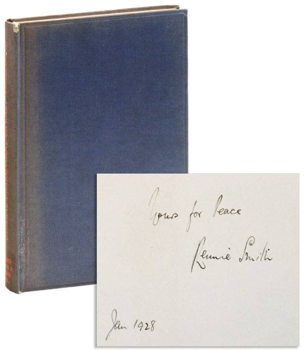 General Disarmament or War? [Inscribed & Signed]. Rennie Smith.