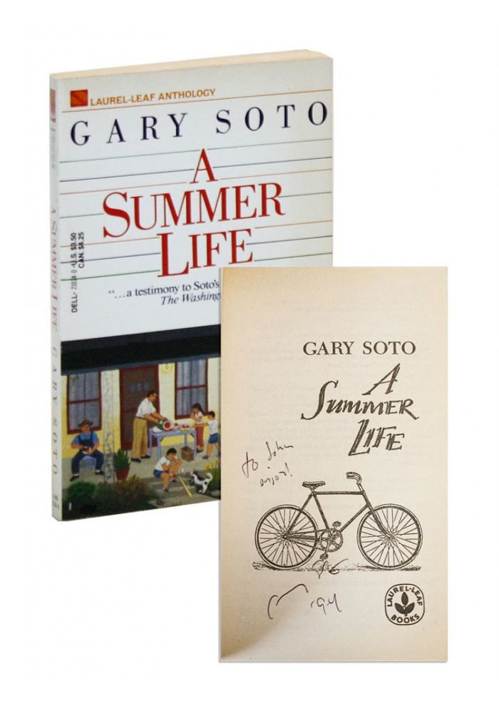 A Summer Life [Inscribed and Signed]. Gary Soto.
