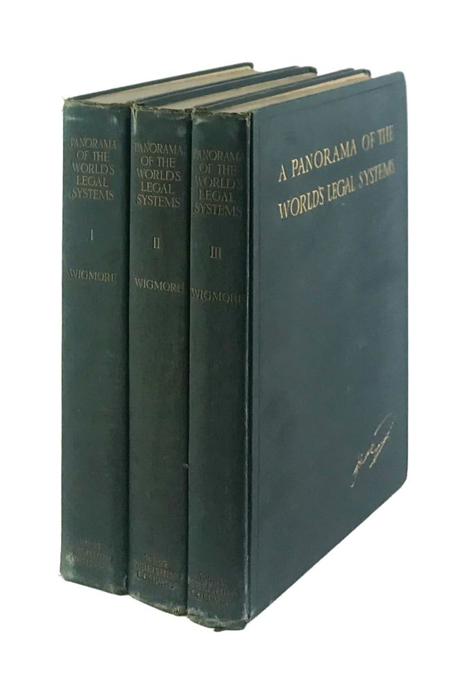 A Panorama of the World's Legal Systems [Signed]. John Henry Wigmore.