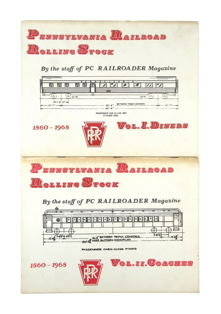 Pennsylvania Railroad Rolling Stock, 1860 - 1968: Vol. I Diners [with] Vol II Coaches [Two Volumes]. Robert H. Reid.