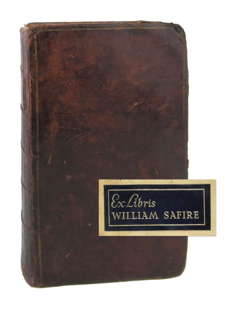 Elements of Criticism. Volume I. The Third Edition. With Additions and Improvements [William Safire copy]. Henry Home, Lord Kames.