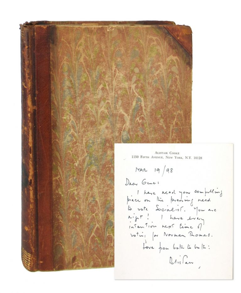 Harkness Hoot: A Yale Undergraduate Review, Volume III 1932-33 [Editor Eugene Rostow's copy; with Signed Autograph Letter from Alistair Cooke]. Eugene V. Rostow, William J. Harpham, Herman W. Liebert, Alistair Cooke, ed., contr.