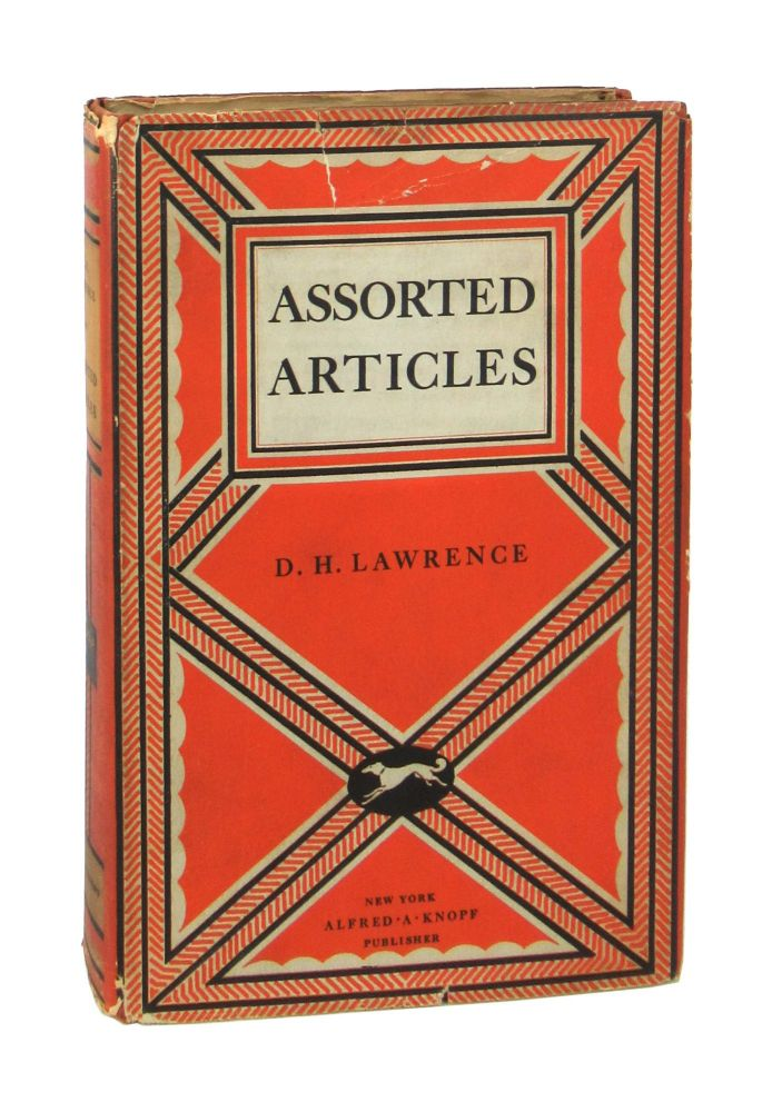 Assorted Articles. D H. Lawrence.