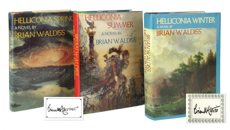 Helliconia Trilogy [with] Helliconia Spring; Helliconia Summer; Helliconia Winter [Signed Bookplates Laid in]. Brian W. Aldiss.