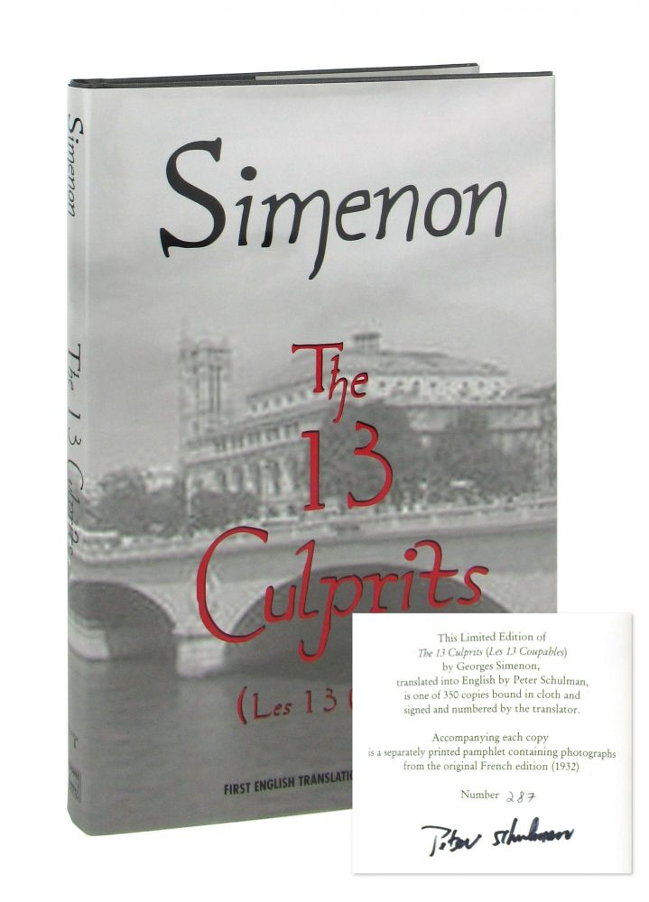 The 13 Culprits (Les 13 Coupables) [Signed by translator]. Georges Simenon, Peter Schulman, trans.