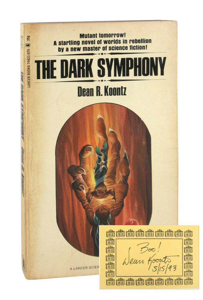 The Dark Symphony [Inscribed and Signed Bookplate Laid in]. Dean R. Koontz.
