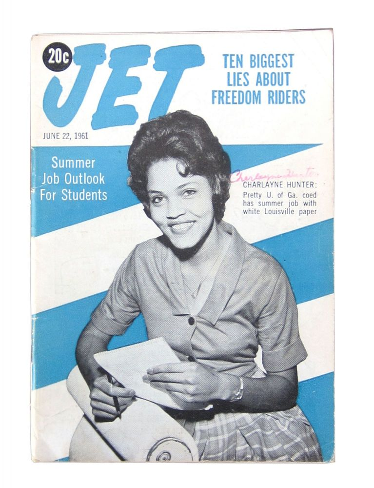 Jet: June 22, 1961 Issue, Vol XX, No. 9: Charlayne Hunter-Gault Cover Feature [signed]. John H. Johnson, ed. and publisher.