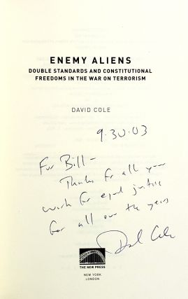Enemy Aliens: Double Standards and Constitutional Freedoms in the War on Terrorism