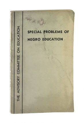 Special Problems of Negro Education. Doxey A. Wilkerson