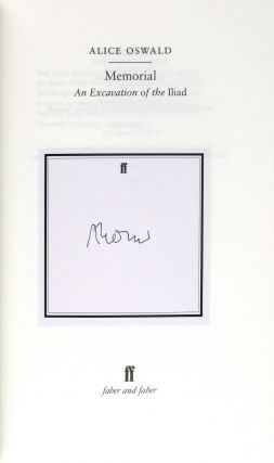 Memorial: An Excavation of the Iliad [Signed]