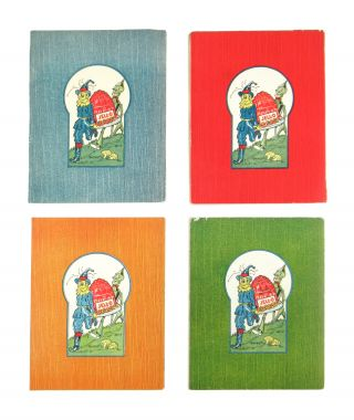 [Complete Set of 4 Wizard of Oz Jell-O Booklets incl.] Ozma and the Little Wizard, The Scarecrow and the Tin Woodman, Jack Pumpkinhead and the Sawhorse, and Tik-Tok and the Nome King