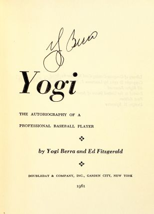Yogi: The Autobiography of a Professional Baseball Player
