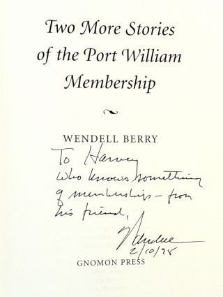Two More Stories of the Port William Membership