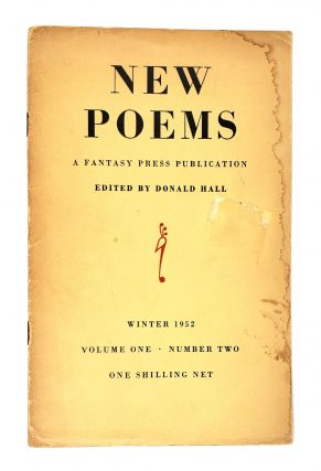 New Poems: Volume 1 Number 2. Donald Hall, Adrienne Rich, Robert Bly, Geoffrey Hill, F. George...
