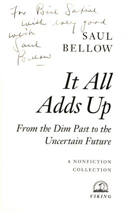 It All Adds Up: From the Dim Past to the Uncertain Future. A Nonfiction Collection