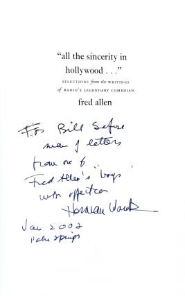"""""""All the Sincerity in Hollywood..."""": Selections from the Writings of Radio's Legendary Comedian"""