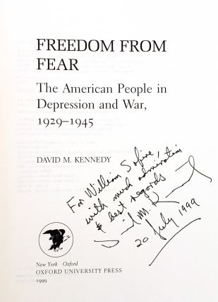 Freedom From Fear: The American People in Depression and War, 1929 to 1945