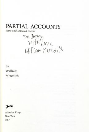Partial Accounts: New and Selected Poems