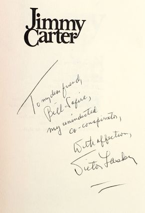 Jimmy Carter: The Man and the Myth [Inscribed to William Safire]