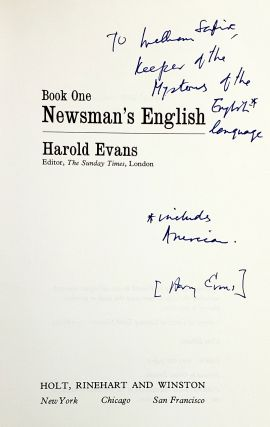 Newsman's English [Inscribed to William Safire]