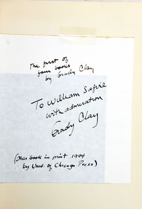 Close-Up: How To Read The American City [Signed with TLS to William Safire]
