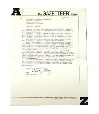 Close-Up: How To Read The American City [With Signed Letter to William Safire]