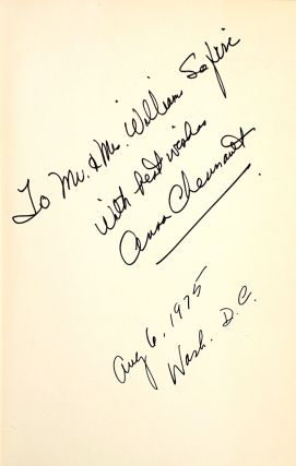 A Thousand Springs: The Biography of a Marriage [Signed and with TLS to William Safire]
