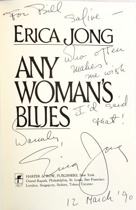 Any Woman's Blues: A Novel of Obsession [Signed to William Safire]
