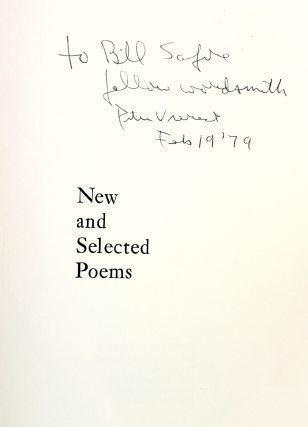 New and Selected Poems [Signed to William Safire]