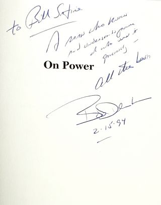 On Power [Inscribed and with TLS to William Safire]
