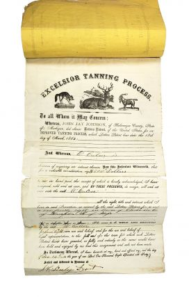 Directions for Using the Patent Excelsior Tanning Process. Patented March 18, 1862
