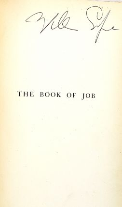 The Book of Job: A Revised Text and Version [William Safire copy]