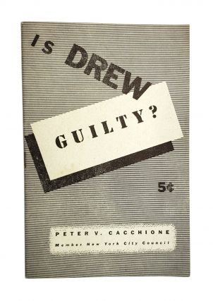 Is Drew Guilty? [wrapper title]. Peter V. Cacchione