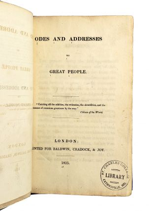 Odes and Address to Great People